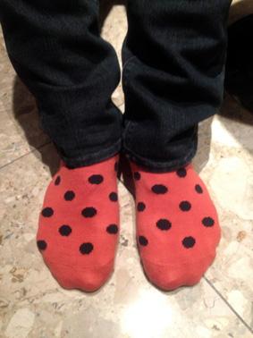 ドット柄靴下
