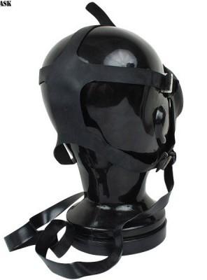 後ろもゴムのガスマスク